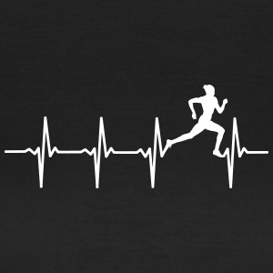 Your heart beats for's running? - Women's T-Shirt