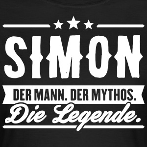 Man Myth Legend Simon - Women's T-Shirt