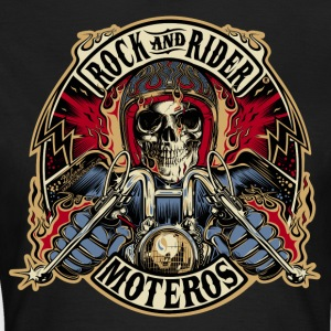 Rock And Rider Moteros Skull Color - Camiseta mujer