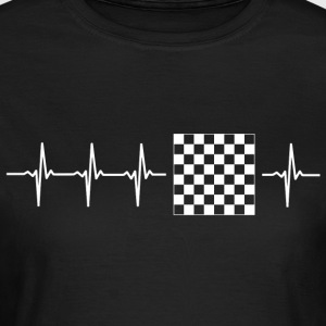 I love chess (chess heartbeat) - Women's T-Shirt