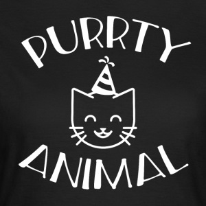 Purrty Animal; Party dyr - Dame-T-shirt