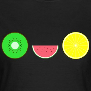 DIGITAL FRUGTER - Hipster KIWI LEMON MELON - Dame-T-shirt