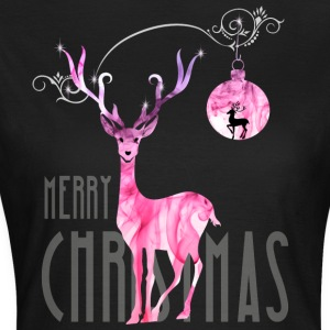 rentier pink Christmas advent nicholas girl woman - Women's T-Shirt