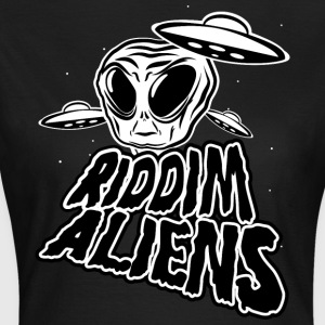 Riddim Aliens (Black Design) - Vrouwen T-shirt