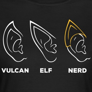 Vulcan Elf Ear Nerd - T-skjorte for kvinner