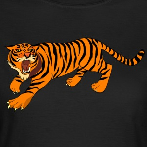 Tiger with claws and roar on - Women's T-Shirt