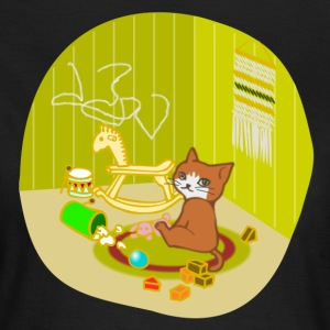 Cat playing in her nursery - Women's T-Shirt
