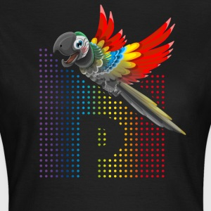 Parrot bird of prey rainbow colorful p cute - Women's T-Shirt