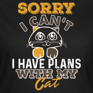 Plans with cat - Women's T-Shirt