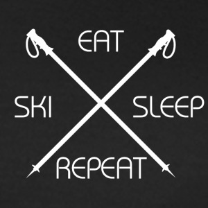 Ski Eat Sleep - T-skjorte for kvinner