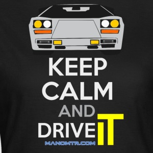 Keep Calm and Drive IT - torsk: LCountach - T-skjorte for kvinner