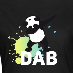 dab splatter panda dabbing touchdown fun cool danc - Women's T-Shirt