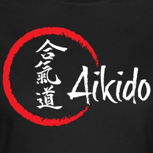 Aikido for black background - Women's T-Shirt