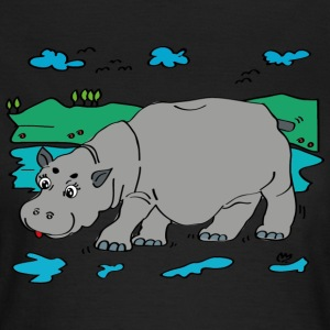 Illustration hippo - Women's T-Shirt