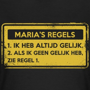 Maria's rules. Original gift. - Women's T-Shirt