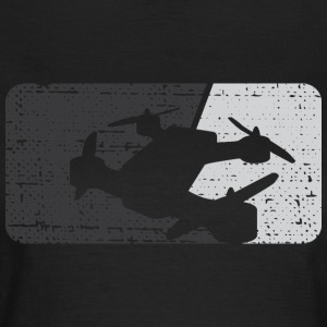 Drone Racing Distressed Monochromatic Dark - Women's T-Shirt