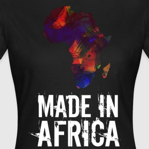 Made In Africa / Afrika hvit skrift - T-skjorte for kvinner