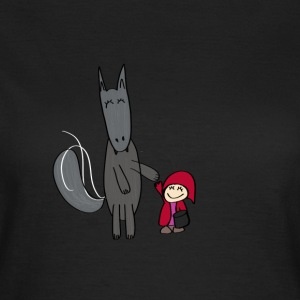 The Wolf and Little Red Riding Hood - Women's T-Shirt