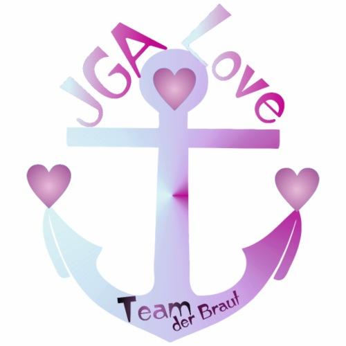 JGA Shirt - Team der Braut - Anker - Frauen T-Shirt