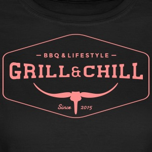 Grill and Chill / barbacoa y estilo de vida Logo 1 - Camiseta mujer