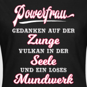 POWERFRAU ::: - Frauen T-Shirt