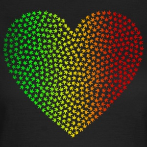 Rasta Weed Love - Women's T-Shirt