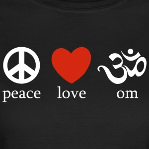 Peace Love Om - T-skjorte for kvinner
