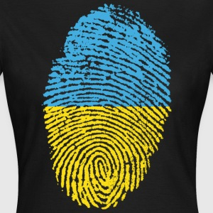 UKRAINE / FINGERABDRUCK - Frauen T-Shirt
