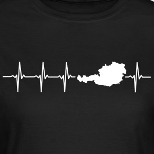I love Austria (Austria heartbeat) - Women's T-Shirt