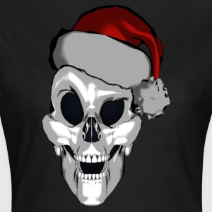 Smart Santa Skull - T-skjorte for kvinner