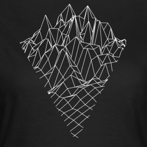 Berg Bergs grafisk Vector Sketch - T-shirt dam