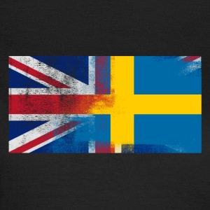 British Swedish Half Sweden Half UK Flag - T-shirt dam