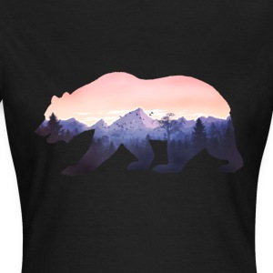 bär berge grizzly wild rocky cool natur wald fun - Frauen T-Shirt