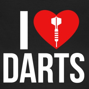 I LOVE DARTS WHITE - Women's T-Shirt