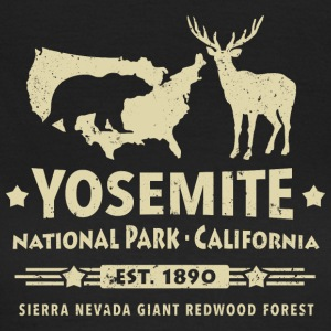 Yosemite National Park California Bear Redwood - Vrouwen T-shirt