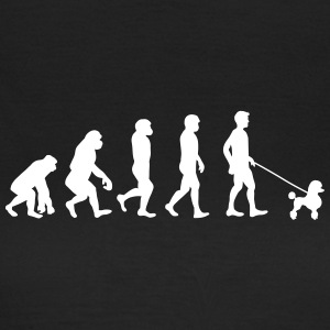 Poodle - Evolution - Dame-T-shirt