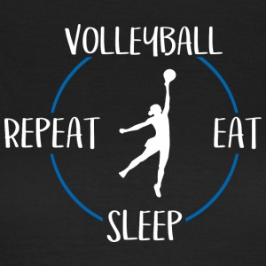 Volleyball, Eat, Sleep, Repeat - Women's T-Shirt