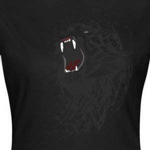 tiger black löwe wild biss cool blut gang man fun - Frauen T-Shirt