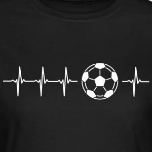 I love football (soccer heartbeat) - Women's T-Shirt