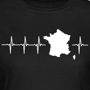 I love France (France heartbeat) - Women's T-Shirt