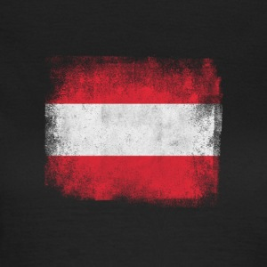 Austria Flag Proud Austrian Vintage Distressed - Women's T-Shirt