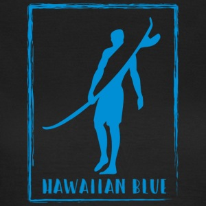 Hawaiian Blue Surfer logo - Dame-T-shirt