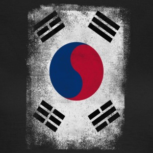 Südkorea-Flagge Proud Korean Vintage Distressed - Frauen T-Shirt