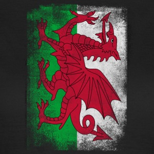 Wales Flagg Proud Welsh Vintage Look skjorte - T-skjorte for kvinner