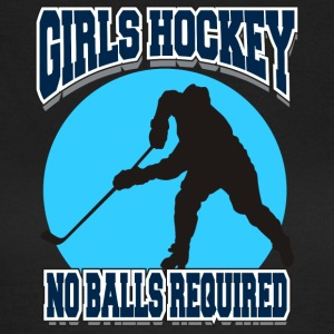 Girls Hockey No Balls Required - Women's T-Shirt