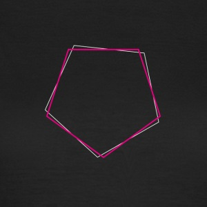 Shifted polygon Pink - Women's T-Shirt