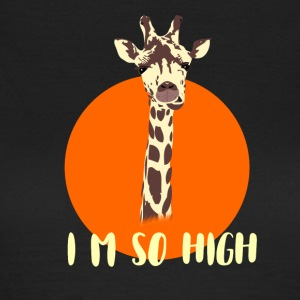 giraffe high level neck big sun animal orange nied - Women's T-Shirt