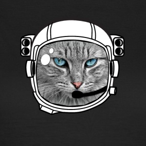 astro-cat cat Space roret Fell Grumpy øjne - Dame-T-shirt