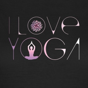 i love yoga lotusblüte buddha meditation lila ohm - Frauen T-Shirt