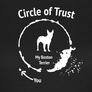 Funny Boston Terrier shirt - Circle of Trust - T-shirt dam